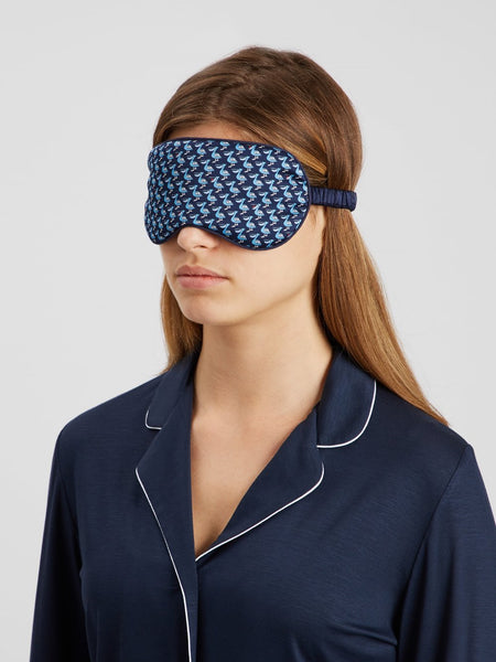 Derek Rose Brindisi Reversible Eye Mask