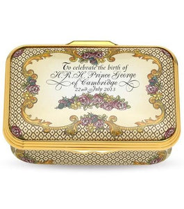 Halcyon Days Prince George Limited Edition Enamel Box Collectible