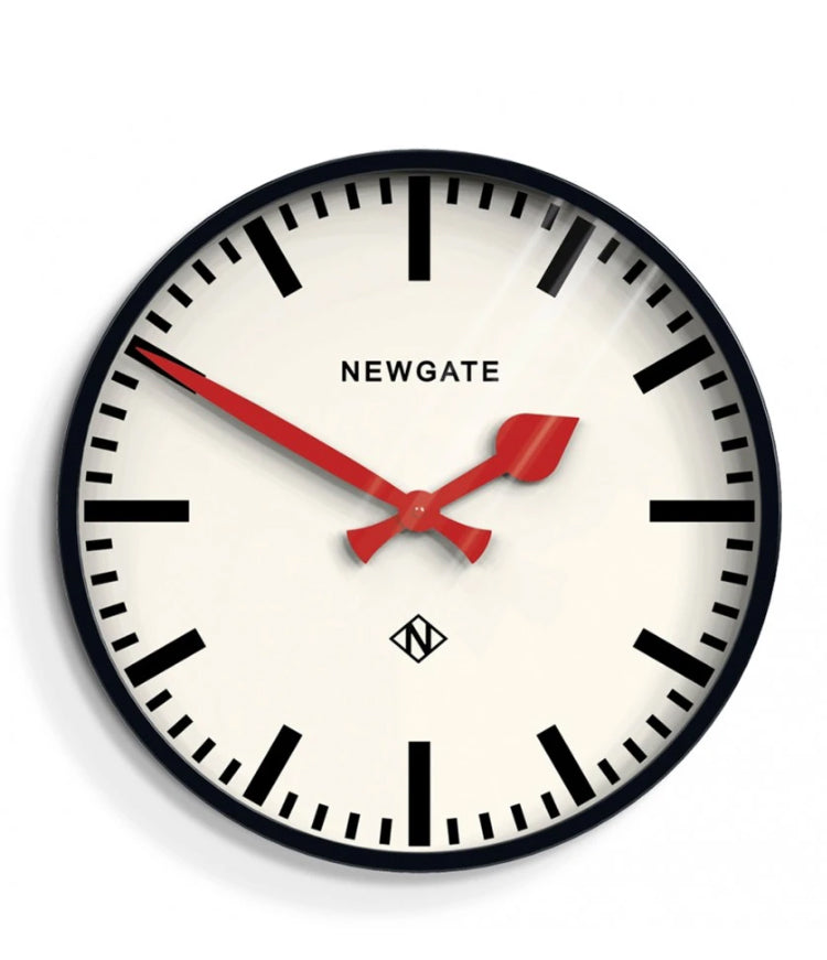Newgate Putney Wall Clock Black