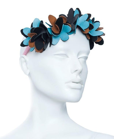 Noel Stewart Leather Flowers Headband