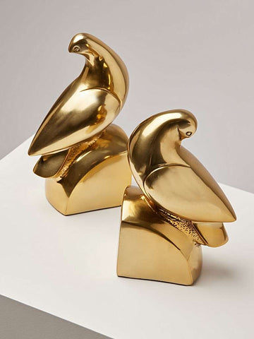 Oliver Bonas Love Birds Gold Metal Bookends