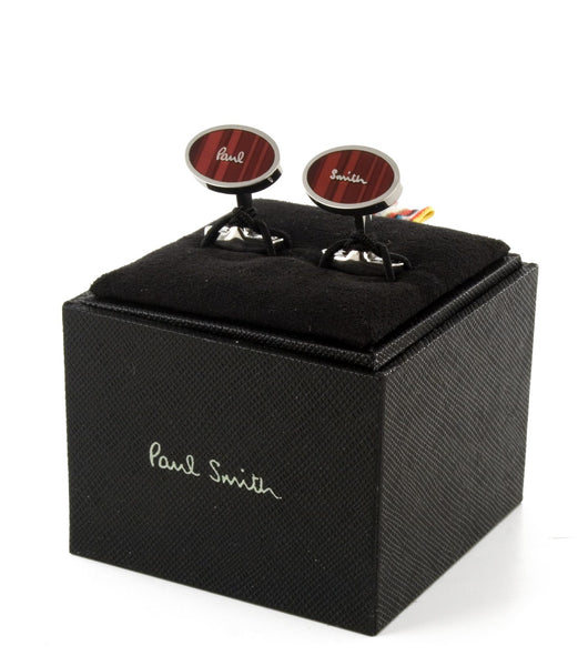 Paul Smith Cufflinks Red Enamel