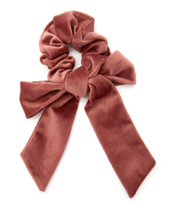 The Uniform Velvet Bow Scrunchie