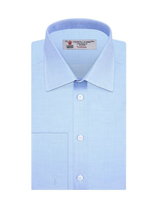 Turnbull & Asser Superfine Herringbone Double Cuffs Shirt