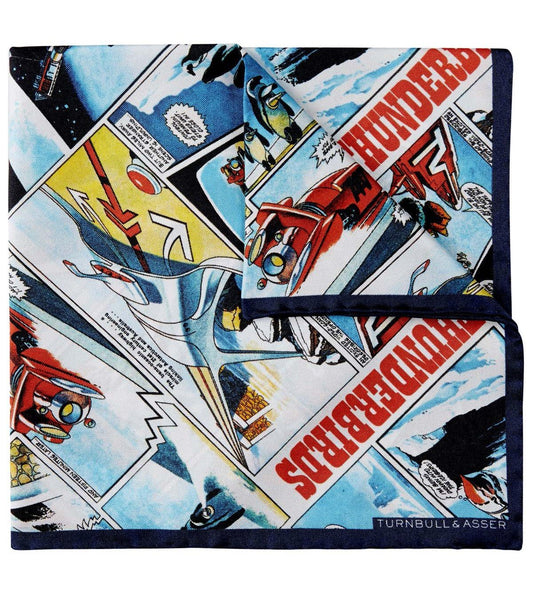 Turnbull & Asser Thunderbirds Silk Pocket Square