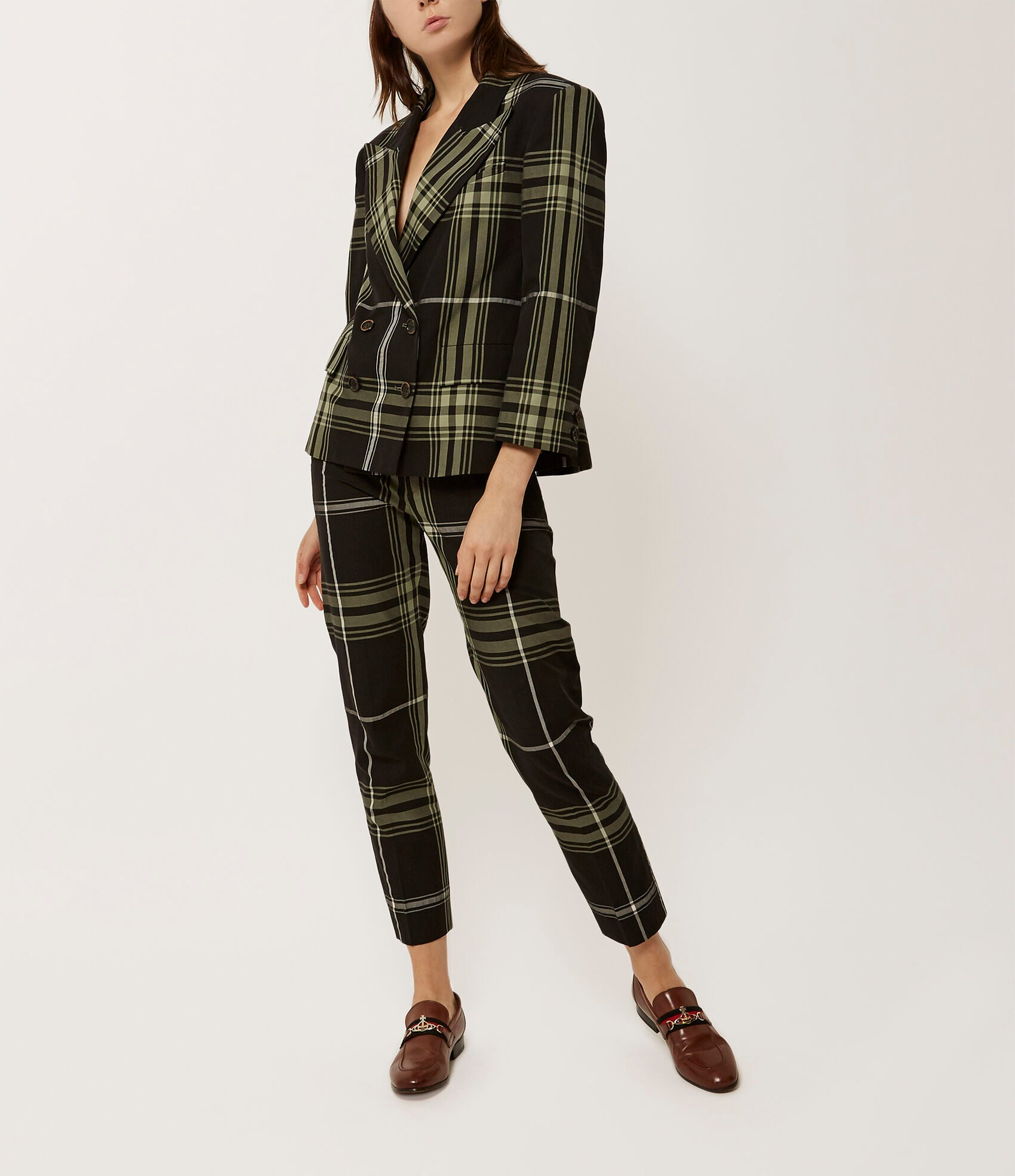 Vivienne Westwood Grand Hotel Double Breasted Tartan Jacket