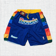 Load image into Gallery viewer, Denver Nuggets Shorts Blue With Pockets