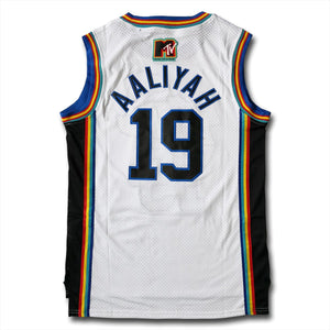 Aaliyah Brick Layers MTV Basketball Jersey - White