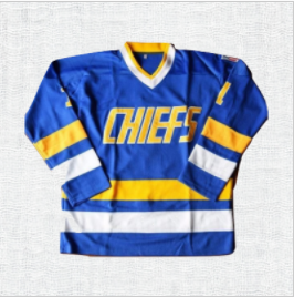 Denis Lemieux #1 Slap Shot Charlestown Chiefs Ice Hockey Jersey