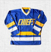 Load image into Gallery viewer, Dave 'Killer' Carlson #3 Slap Shot Charlestown Chiefs Ice Hockey Jersey