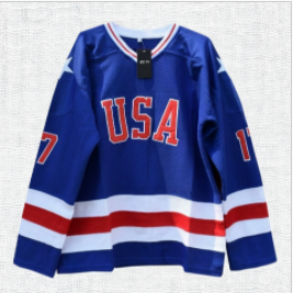 Jack O'Callahan #17 Miracle on Ice USA Hockey Jersey