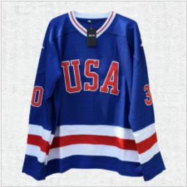 Jim Craig #30 Miracle on Ice Hockey jersey