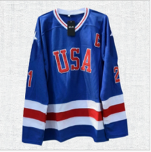 Load image into Gallery viewer, Mike Eruzione #21 Miracle on Ice Hockey jersey