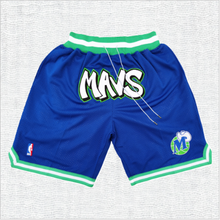 Load image into Gallery viewer, Dallas Mavericks Blue Shorts with Pockets