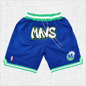 Dallas Mavericks Blue Shorts with Pockets
