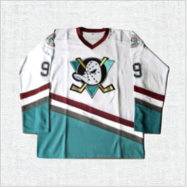 Adam Banks #99 Mighty Ducks White Ice Hockey Jersey