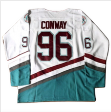Load image into Gallery viewer, Charlie Conway #96 Mighty Ducks Ice Hockey Jersey - White