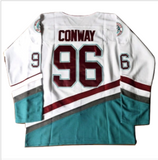 Charlie Conway #96 Mighty Ducks Ice Hockey Jersey - White