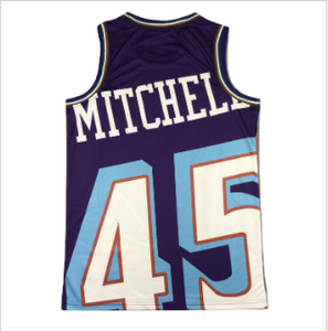 Utah Jazz Donovan Mitchell Jersey Purple #45