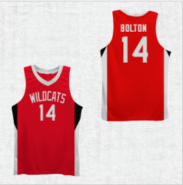 Troy Bolton 14 Wildcat High School Basketball Jersey