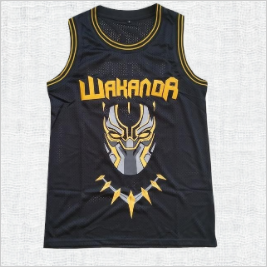 Black Panther Wakanda T`Challa Killmonger Movie Basketball Jersey #2