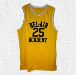 Bel Air Academy Carlton Banks #25 Fresh Prince Jersey