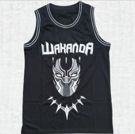 Black Panther Wakanda T`Challa Killmonger Movie Basketball Jersey #1