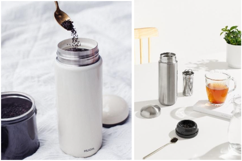 tea with the pebble bottle