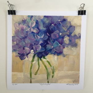 """Hydrangeas"" Limited Edition Giclee Print"