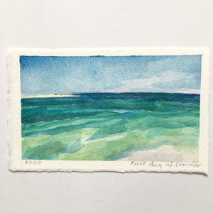 "First Day of Summer, original watercolor, 3""x5"""