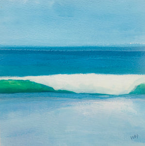 "Surfs Up, original acrylic, 5.5""x5.5"""