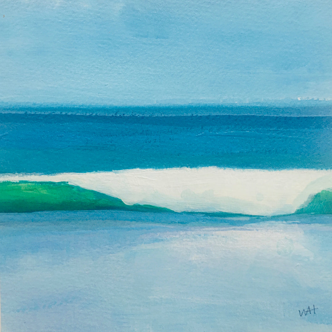 Surfs Up, original acrylic, 5.5