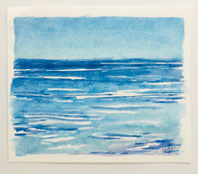 "Load image into Gallery viewer, Happy Blues, original watercolor,  4.75""x5.5"""