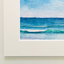 "Load image into Gallery viewer, Beach Day Blue, original watercolor, 5""x7"""