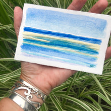 "Load image into Gallery viewer, Beach Time!, original watercolor, 3""x5"""
