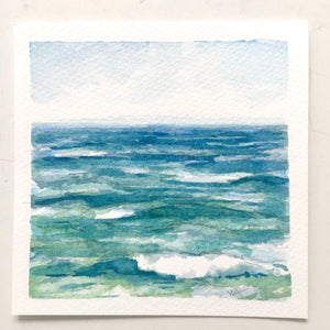 "30% OFF! Vitamin Sea, original watercolor, 5""x5"""