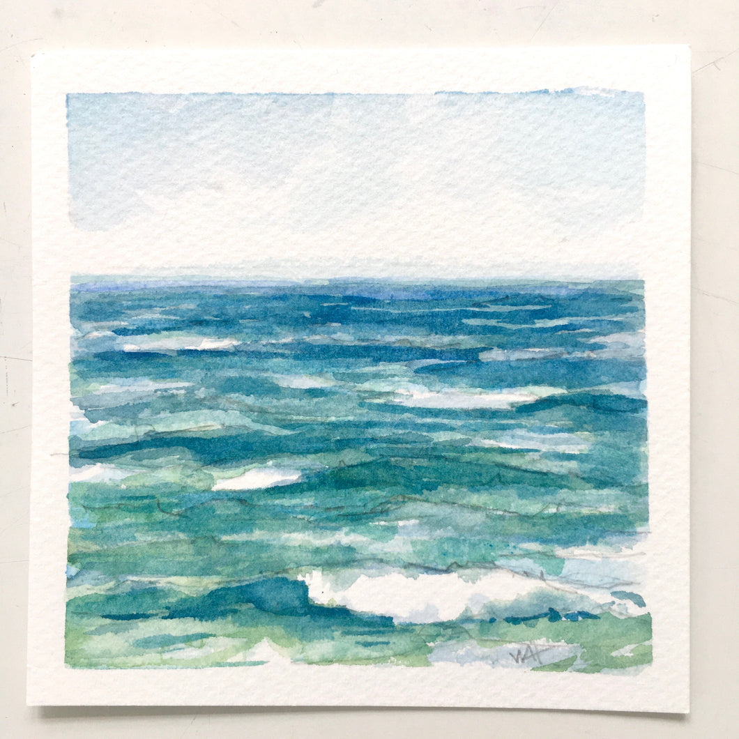 30% OFF! Vitamin Sea, original watercolor, 5