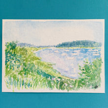 Load image into Gallery viewer, Harbor View, original watercolor, 5x7