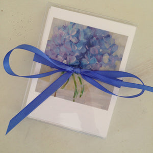 """Hydrangeas"": Package of 8 notecards"