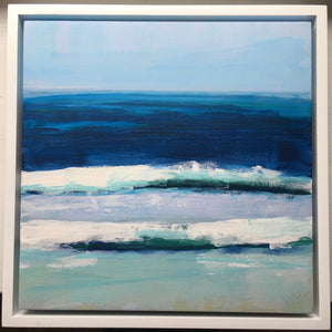 Surf, 8x8, framed