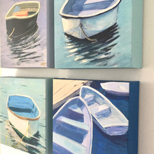 """Calm"", 6x6 Dinghy Print on Canvas"