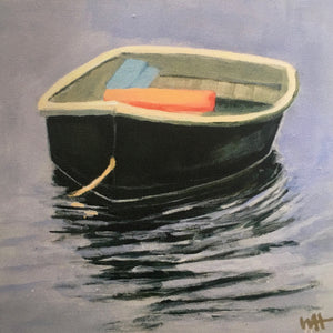 """At Rest"", 6x6 Dinghy Print on Canvas"