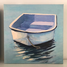 "Load image into Gallery viewer, ""Calm"", 6x6 Dinghy Print on Canvas"