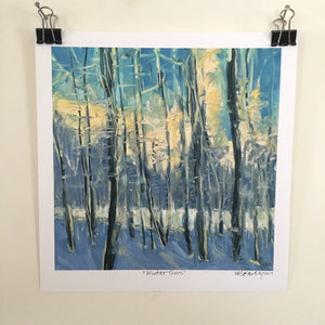 """Winter Trees"", 7.25x7.25  Limited Edition Giclee Print"