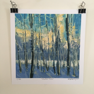 Winter Trees 7x7 giclee