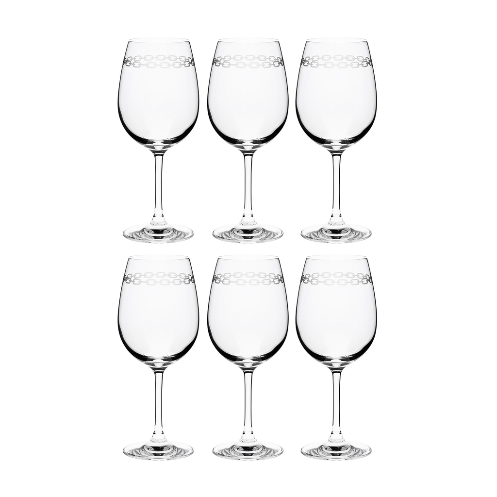 CHAIN WHITE WINE, SET OF 6