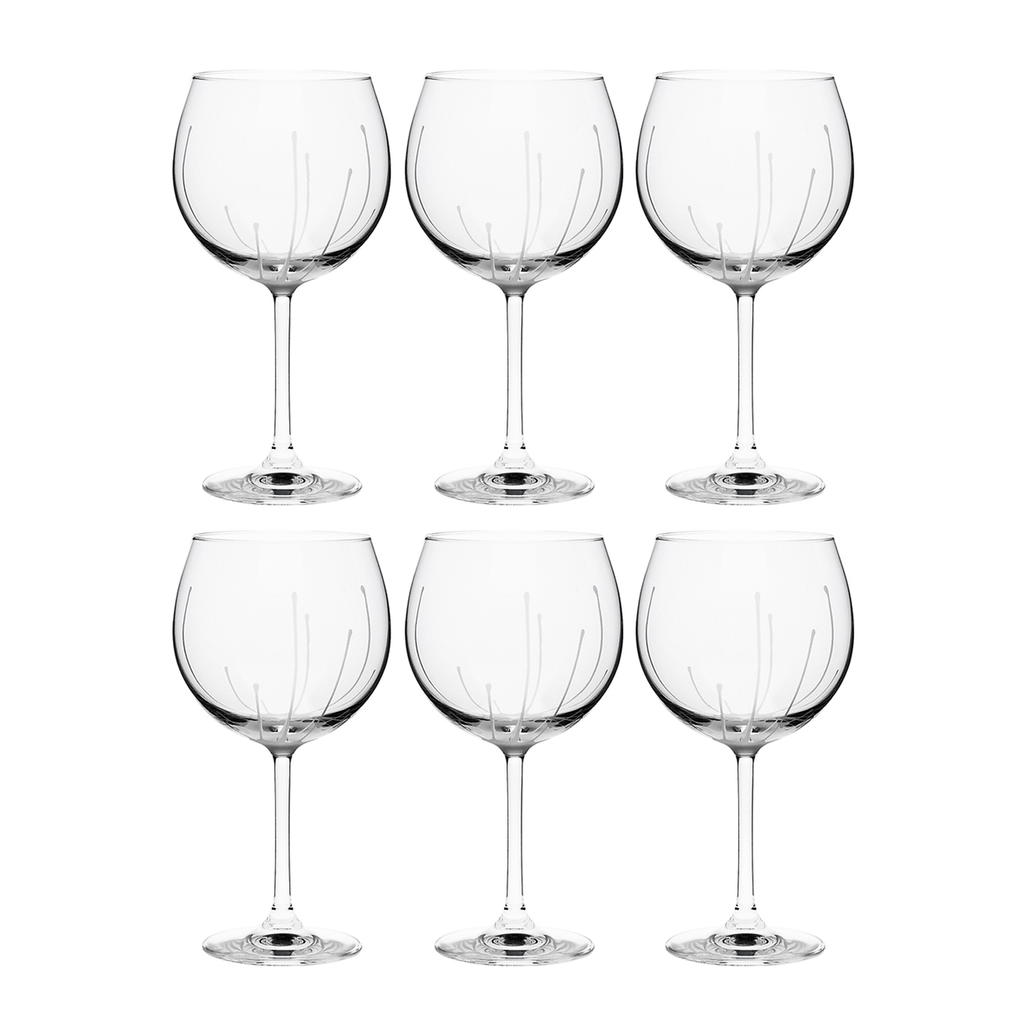 SPLASH BORDEAUX, SET OF 6