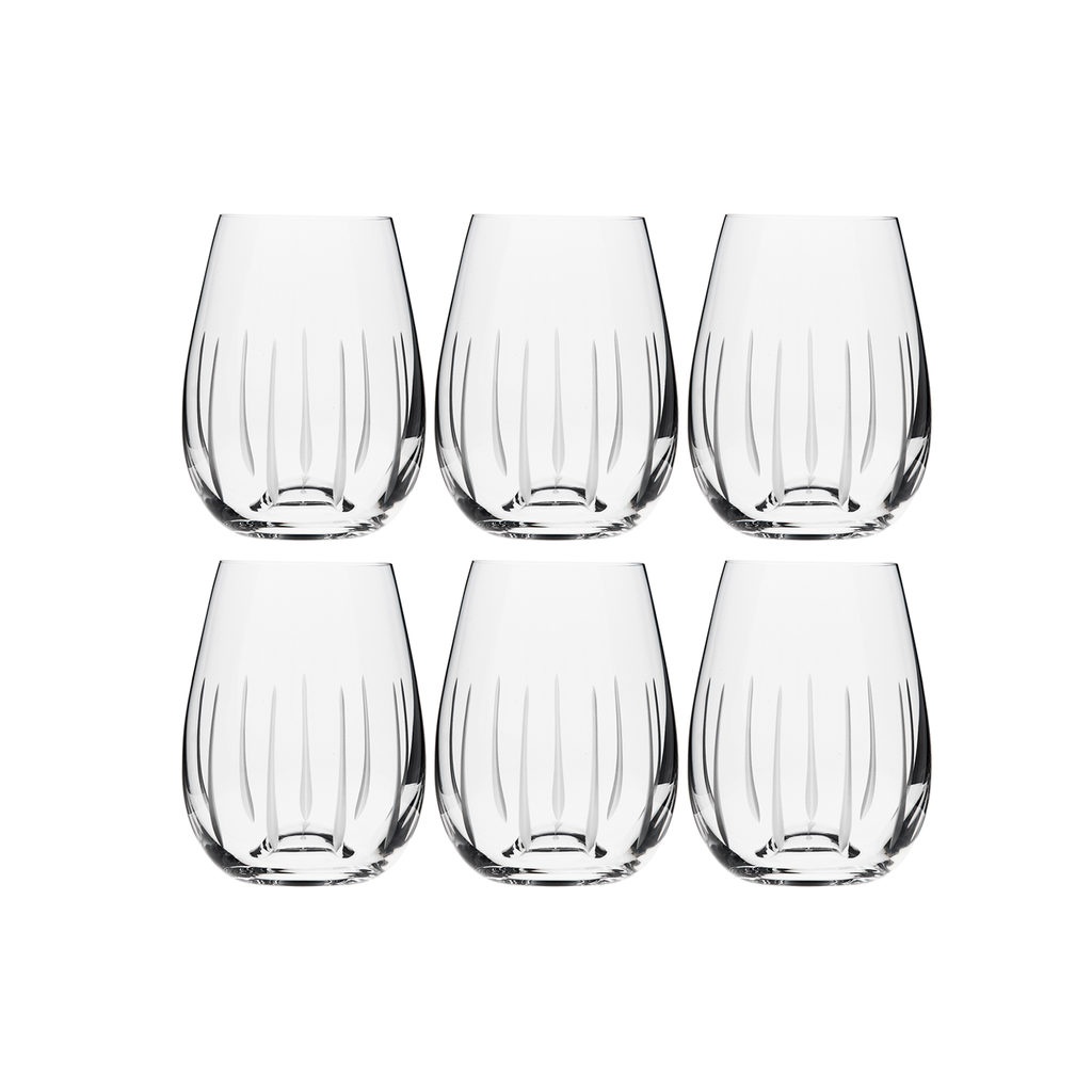 TEARDROP WHITE WINE, SET OF 6