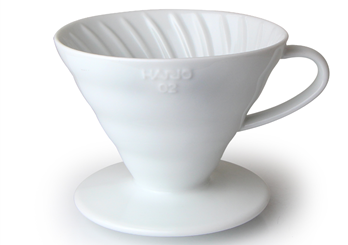 V60 Coffee Dripper 02 / Ceramic / White