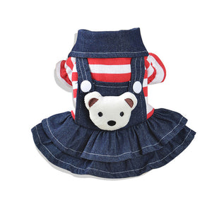 Striped Teddy Overalls